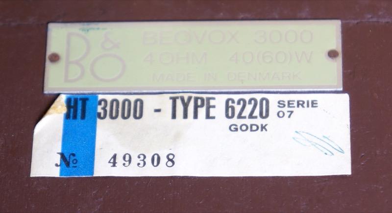 Bang & Olufsen Beovox HT 3000 Mk 2 Type 6220