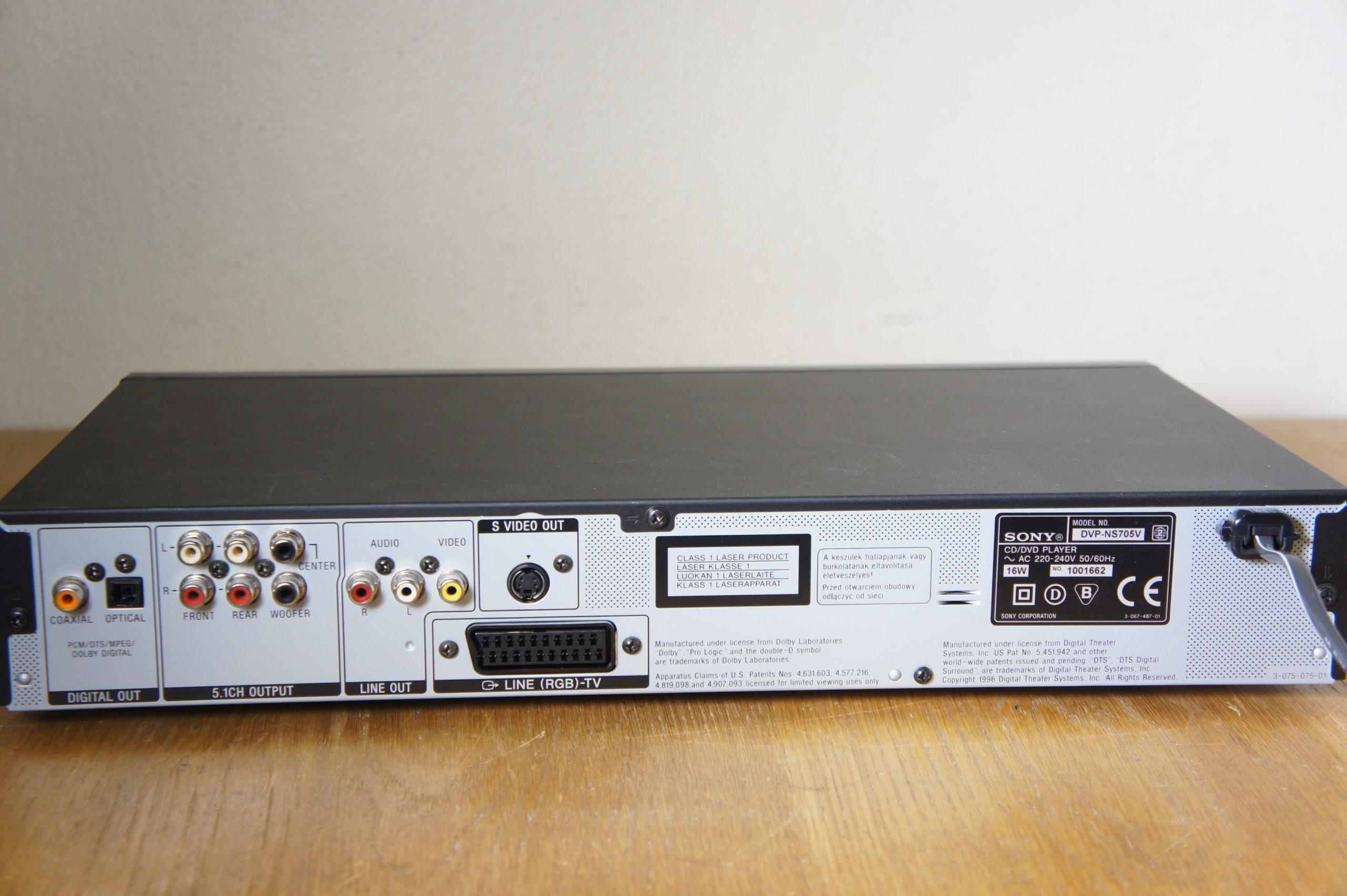 Sony DVP-NS705V
