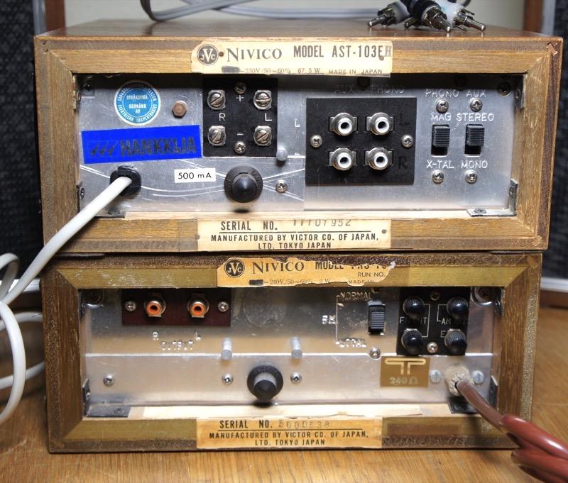 JVC Nivico FRS-103E, AST-103E ja BLA-104E