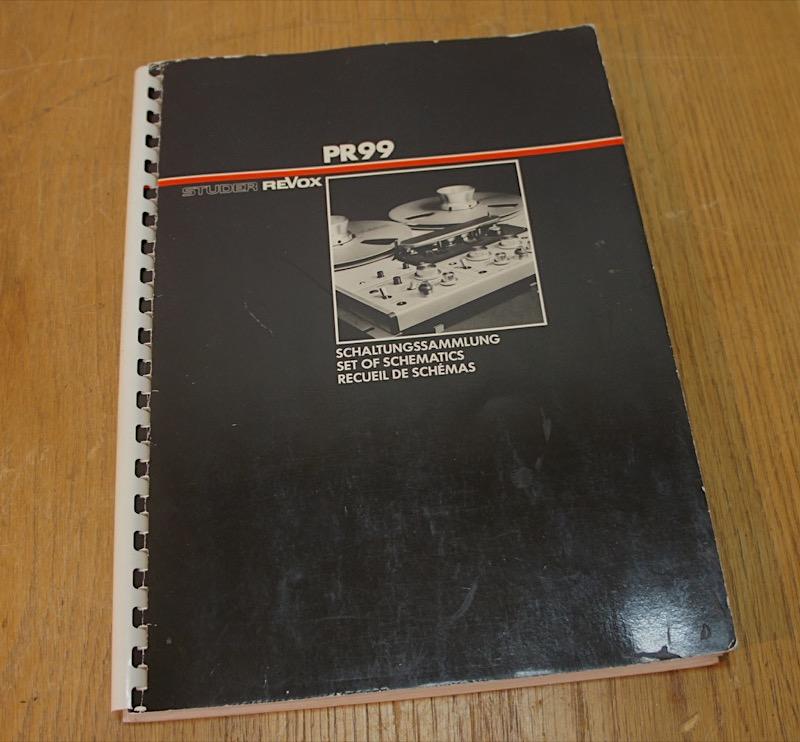 Revox PR99 manuaali