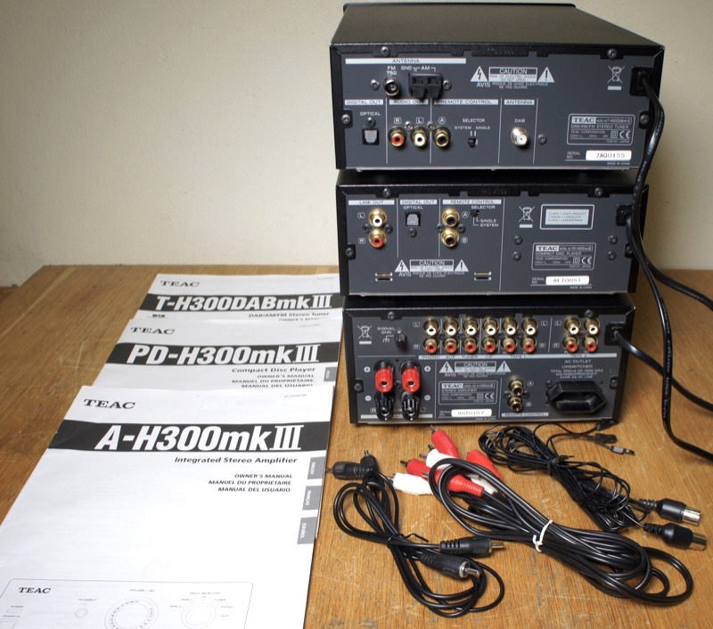 Teac A-H300 mkIII, PD-H300 mkIII, T-H300DAB mkIII